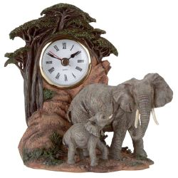 elephantclock sculptures, elephant figurines,